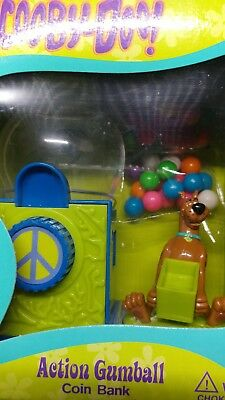 Rare Scooby Doo Miniature Coin Bank Action Gumball Machine NIB 2000 free (Scooby Doo Miniature)