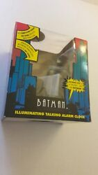 1993 Vintage BATMAN THE ANIMATED SERIES Talking Alarm Clock. RARE IN BOX