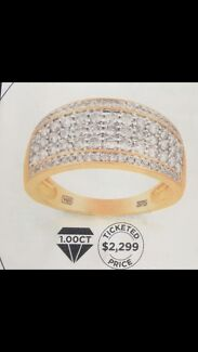1ct Diamond and Gold womens ring for sale