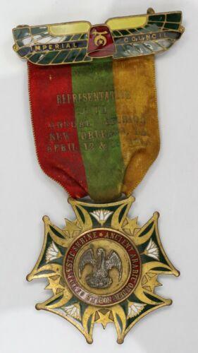 1910 Shriners Enameled Jeweled Ribbon. New Orleans LA. MR110