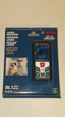 Bosch Blaze Laser Measure Glm 42 135ft. - 116 Accuracy. Brand New Sealed