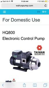 Electric water pressure boosting pump