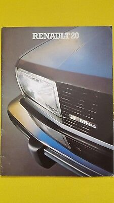 Renault 20 TL LS TS Automatic 1.6 2.0 sales car catalogue brochure SUPERB