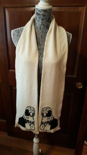 Custom Knit Old English Sheepdog Scarf