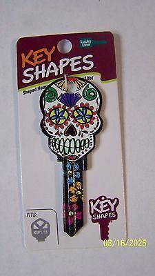 Sugar Skull Kwikset KW1/KW10 house key blank.