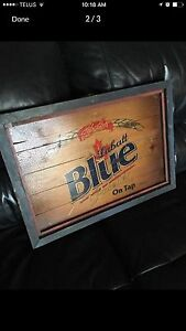 Labatt Blue Wood Sign