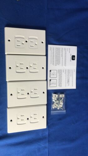 Ziz Home Self-Closing Outlet Covers | 4 Pack | White | Baby Proof Kit