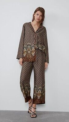 100% Authentic ZARA Floral Print Pajama Shirt