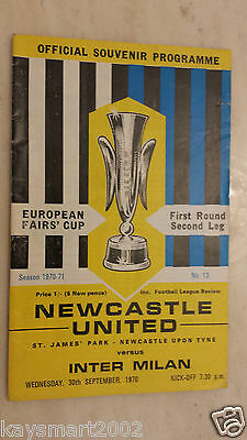 1970/71 FAIRS CUP- NEWCASTLE UNITED v INTER MILAN - 1st Round 2nd Leg