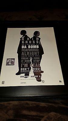 Kris Kross Da Bomb Rare Original Promo Poster Ad Framed!