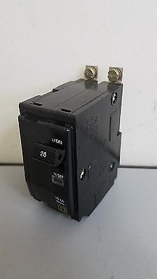 Square D Qob Qob220 2 Pole 20 Amp Circuit Breaker 10ka 1 Year Warranty