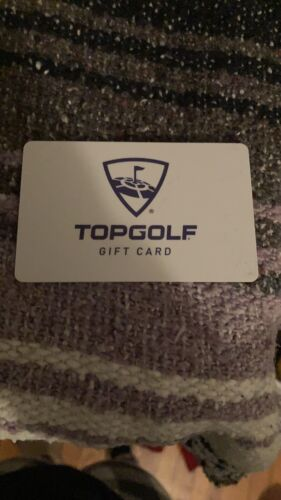 Top Golf 50 Physical Gift Card - $35.00