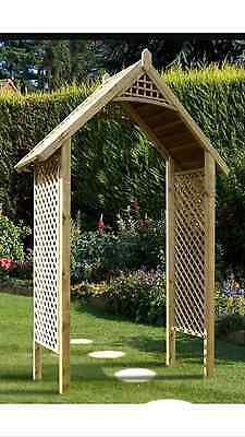 Valencia Pathway Arch Wooden Garden Structure gazebo Arch BRAND NEW