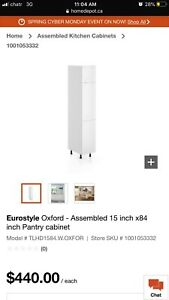Eurostyle Oxford - Assembled 15 inch x84 inch Pantry cabinet