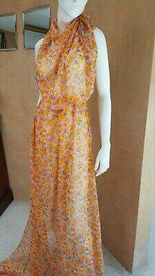 Italian Pure Silk Printed Georgette, Exclusive designer fabric. 2 meters. Georgette Designer