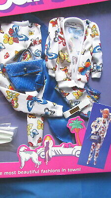 Vtg. 80's Barbie Doll Fashion #3313 Designer Beverly Hills Butterfly Outfit New