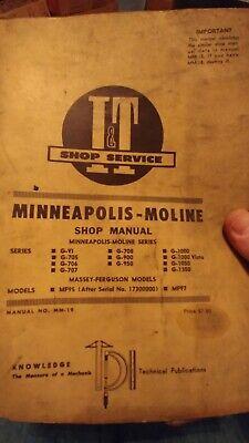 It Minneapolis-moline Gvi G705 G706 G707 G708 G900 G950 G1000 - G1350 Manual