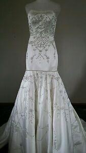 nwt 900 princess for a day ivory wedding dress mermaid sweetheart chapel 4 s