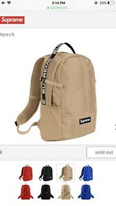 NEW SUPREME TAN BACKPACK SS18
