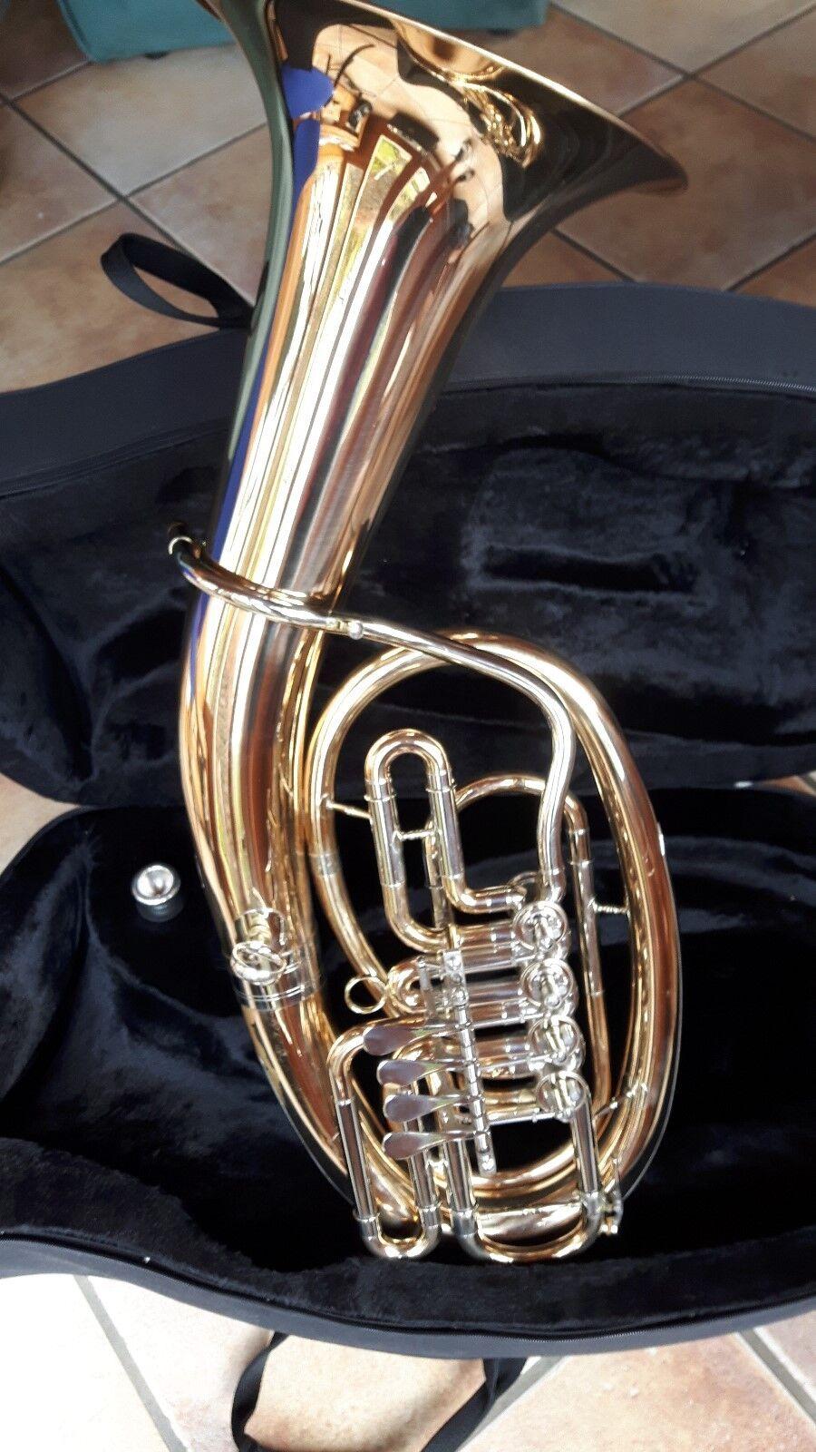 Blasinstrumente Amati Kraslice Tenorhorn Bariton 4-ventile Mit Koffer Und Mundstück Jk Baritone