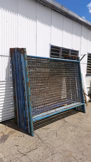 Temporary fence panels damaged stock