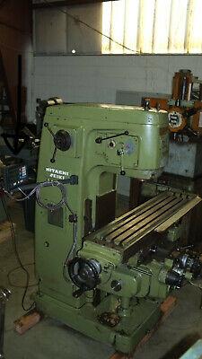 Hitachi Seki Vertical Milling Machine Made Japan 3-axis Digital Readout 1800rpm