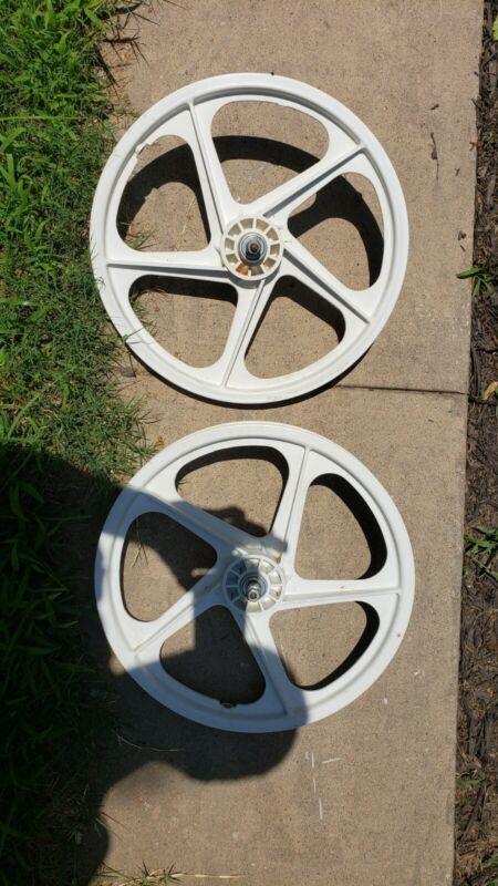 "Peregrine Master Graphite Mag Wheels Old School Original 20"" Bmx Wheels Mags..."