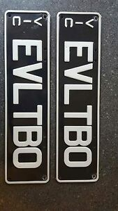Rare number plates EVLTBO Clyde Casey Area Preview