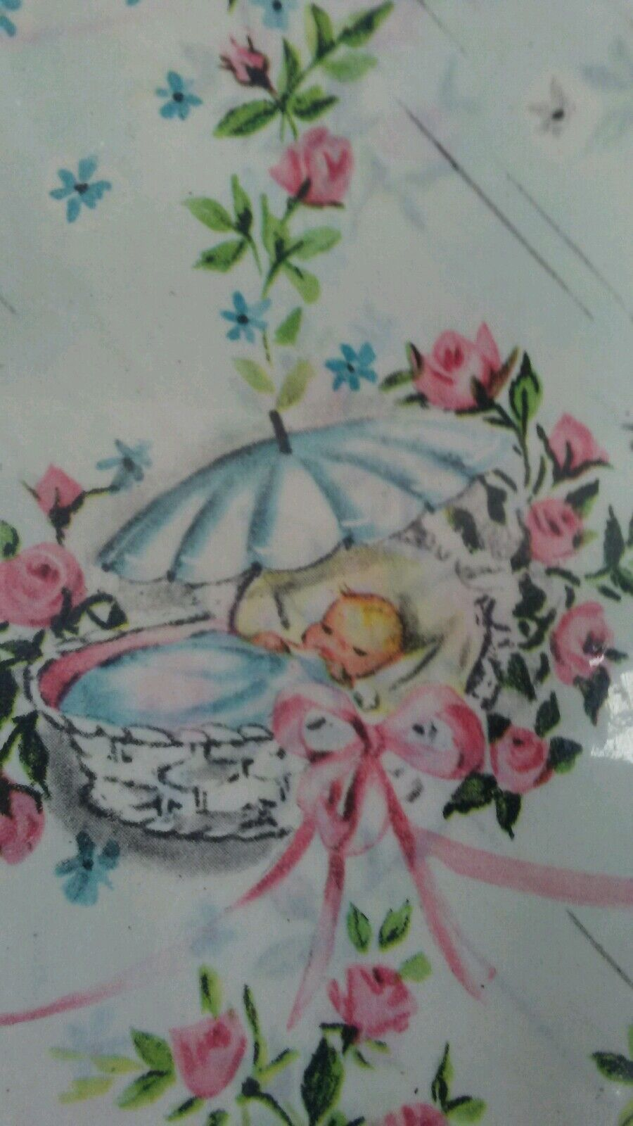 Greeting cards paper ephemera collectables vintage baby shower gift wrap kristyandbryce Gallery