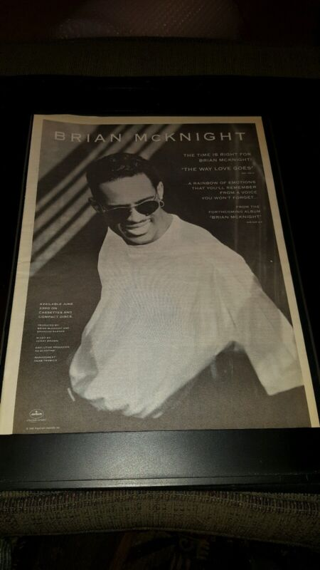 Brian McKnight The Way Love Goes Rare Original Promo Poster Ad Framed!
