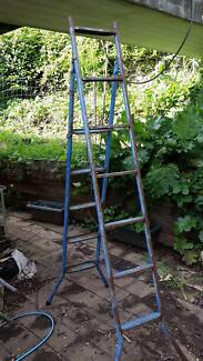 Steel folding ladder (4m when extended)