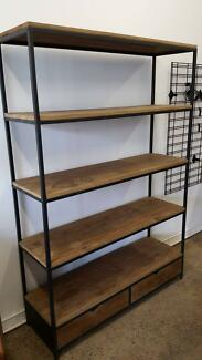Industrial French Country Shelf Unit