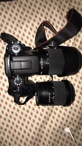 Sony Alpha A100 DSLR Camera with 75-300 lens and 18-70mm lens