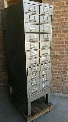 Vintage Art Metal 11-drawer 22 Bin Steel Cabinetapothecaryindustrialsteampunk