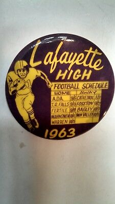 Vintage Collectible Red Lake Falls MN Lafayette High 1963 Football Schedule Nice