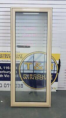 Aluminium Awning Window 2050H x 850W (Item 5052/19) Paperbark DOUBLE GLAZED
