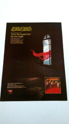 """BEE BEES  """" LOVE YOU INSIDE OUT """"  1979  RARE ORIGINAL PRINT PROMO POSTER AD"""