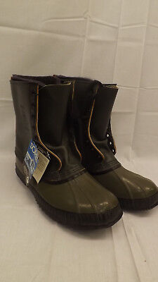TRUE Vtg Kaufman Premium Sorel Pac Boot NOS sz 11   w/Wool Liners