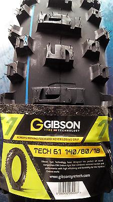 Gibson ENDURO Reifen TECH 6.1 140/80-18 140 x 18 Zoll für KTM EXC WR FE TE