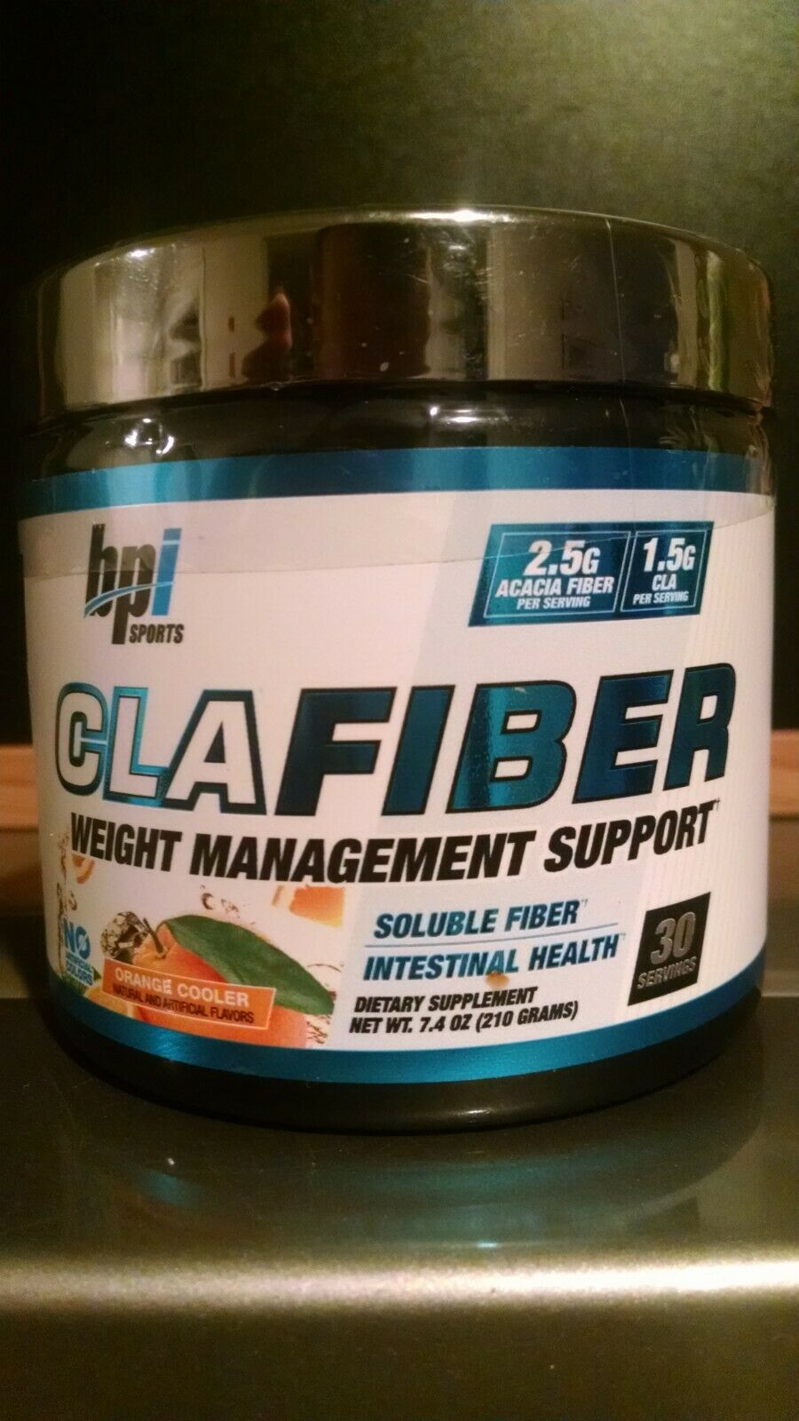 BPI Sports CLA Fiber Weight Management Support 30 Servings Orange Cooler Flavor