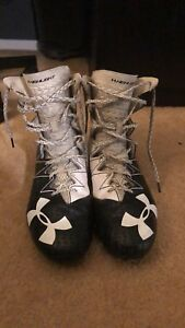 Under Armour Highlight Cleats - Size 11.5 + GLOVES AND GIRDLE
