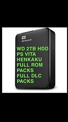 PlayStation Vita PS Vita 2tb HDD 3.60 To 3.73 Henkaku, Retro + PSP + Vita games