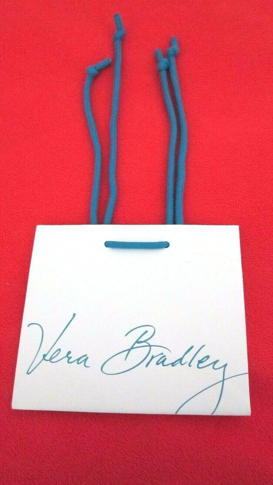New Vera Bradley XSmall GIFT BAG, White w/Blue,UNUSED,Acqui