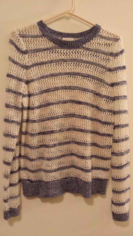 Xhilaration Blue & White Striped Sweater Crochet pattern  Size Small