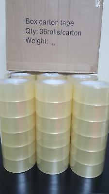 36 Rolls Carton Sealing Clear Packing 2 Mil Shipping Box Tape 2
