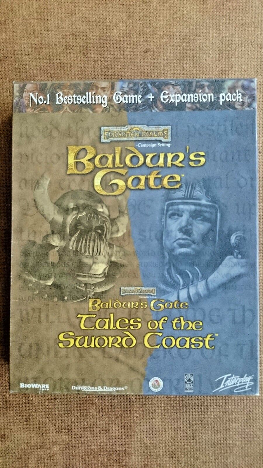 Baldur's Gate Plus Tales of the Sword Coast Expansion - PC 1999 Big Box Edition