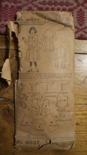 1907 Antique Sewing Pattern PICTORIAL REVIEW #6537 Girl