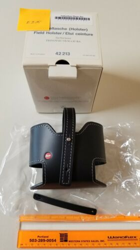 LEICA Binocular Belt Carry Holster (Black Leather) 7/8/10 x 42 Size - NEW in BOX
