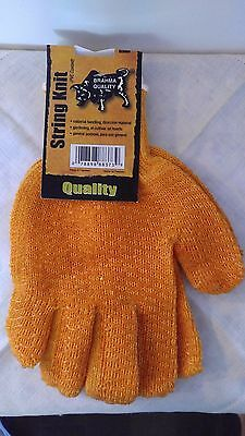String Knit Pvc Coated Work Gloves Brahma Quality Orange Large Wa8373a