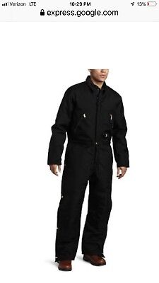 Carhartt Black Artic Quilt Lined Extreme Mens Coverall With Hood